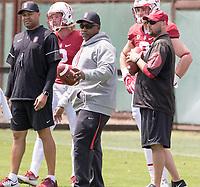 Stanford, CA - April15, 2017:  Coach Ron Gould at Cagan Stadium.