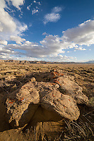 Rocks and clouds on Chapman Bench in the Bighorn Basin