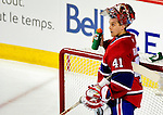 22 March 2010: Montreal Canadiens' goaltender Jaroslav Halak gets some hyration during the first period against the Ottawa Senators at the Bell Centre in Montreal, Quebec, Canada. The Senators shut out the Canadiens 2-0 in their last meeting of the regular season. Mandatory Credit: Ed Wolfstein Photo