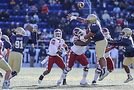 Annapolis, MD - December 3, 2016: Navy Midshipmen defensive end Jarvis Polu (90) tries to deflect a pass during game between Temple and Navy at  Navy-Marine Corps Memorial Stadium in Annapolis, MD.   (Photo by Elliott Brown/Media Images International)