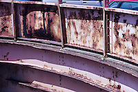 RUST<br /> Bridge<br /> Oxide of iron formed by corrosion, an electrochemical reaction.  In moist conditions iron is rapidly oxidized by oxygen to form rust, a mixture of iron oxides.