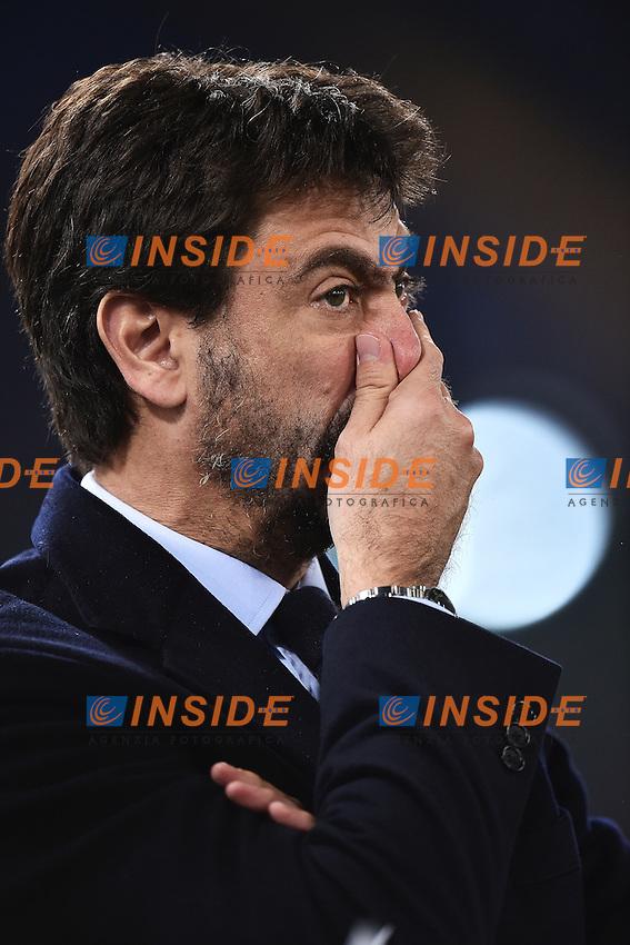 Andrea Agnelli Juventus <br /> Roma 04-12-2015 Stadio Olimpico Football Calcio 2015/2016 Serie A Lazio - Juventus Foto Andrea Staccioli / Insidefoto
