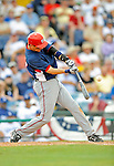 12 March 2008: Washington Nationals' infielder Aaron Boone connects during a Spring Training game against the Los Angeles Dodgers at Holman Stadium, in Vero Beach, Florida. The Nationals defeated the Dodgers 10-4 at the historic Dodgertown ballpark. 2008 marks the final season of Spring Training at Dodgertown for the Dodgers, as the team will move to new training facilities in Arizona starting in 2009 after 60 years in Florida...Mandatory Photo Credit: Ed Wolfstein Photo