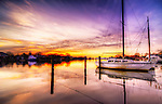 Purple Sunrise at the Pier, Babylon Village, Long Island, New York