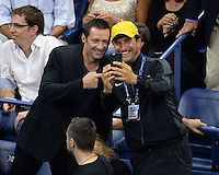FLUSHING NY- SEPTEMBER 06: Hugh Jackman is seen watching Novak Djokovic Vs Jo Wilfred Tsonga on Arthur Ashe Stadium at the USTA Billie Jean King National Tennis Center on September 6, 2016 in Flushing Queens. Credit: mpi04/MediaPunch