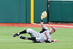 21 February 2015: Hartford's Ryan Lukach makes a diving catch. The Iona College Gaels played the University of Hartford Hawks in an NCAA Division I Men's baseball game at Jack Coombs Field in Durham, North Carolina as part of the Duke Baseball Classic. Hartford won the game 12-1.