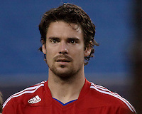 FC Dallas defender Heath Pearce (4).  The New England Revolution drew FC Dallas 1-1, at Gillette Stadium on May 1, 2010