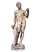 Statue of Adonis - Tis antique statue was completely restored in the 16th century by Francois Du Quesnoy for the collection of Cardinal Mazarin. The Mazarin Collection Inv No. MR 239, Louvre Museum, Paris.