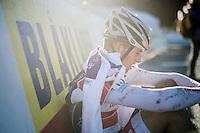 Jappe Jaspers (BEL/U23/Beobank-Corendon) after finishing<br /> <br /> 2016 CX Superprestige Spa-Francorchamps (BEL)