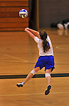 28 October 2012: Yeshiva University Maccabee Shira Genauer, a Junior from Seattle, WA, in action against the Farmingdale State College Rams at SUNY Old Westbury in Old Westbury, NY. The Rams defeated the Maccabees 3-0 in NCAA women's volleyball play. Mandatory Credit: Ed Wolfstein Photo