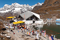 The gurdwara - Sikh temple - at Hem Kund