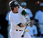 Tyler Lesch of the University of South Carolina Upstate Spartans in a game against the Presbyterian Blue Hose on Friday, February, 21, 2014, at Cleveland S. Harley Park in Spartanburg, South Carolina. Presbyterian won, 5-1. (Tom Priddy/Four Seam Images)