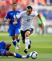 Landon Donovan of the USA avoids a tackle during a World Cup Qualifying match at Rio Tinto Stadium, in Sandy, Utah, Friday, September 5, 2009. The USA won 2-1..