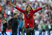 A Millwall fan celebrates on the pitch at the final whistle during Bradford City vs Millwall, Sky Bet EFL League 1 Play-Off Final at Wembley Stadium on 20th May 2017