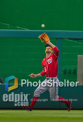 9 June 2013: Washington Nationals fielder Jeff Kobernus in action against the Minnesota Twins at Nationals Park in Washington, DC. The Nationals shut out the Twins 7-0 in the first game of their day/night double-header. Mandatory Credit: Ed Wolfstein Photo *** RAW (NEF) Image File Available ***