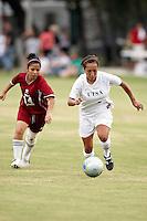 SAN ANTONIO, TX - AUGUST 29, 2008: The Texas Southern University Tigers vs. The University of Texas at San Antonio Roadrunners Women's Soccer at the UTSA Soccer Field. (Photo by Jeff Huehn)