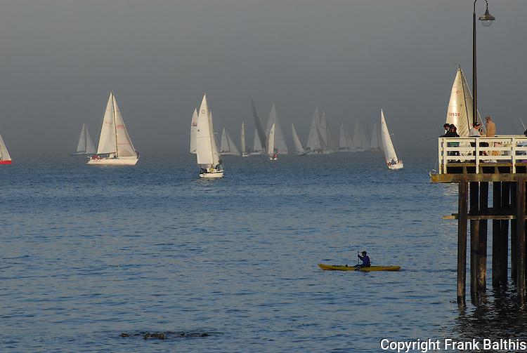 Kayaks and yachts