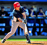 7 March 2010: Washington Nationals' outfielder Kevin Mench in action during a Spring Training game against the New York Mets at Tradition Field in Port St. Lucie, Florida. The Mets edged out the Nationals 6-5 in Grapefruit League pre-season play. Mandatory Credit: Ed Wolfstein Photo