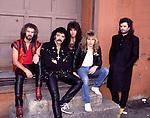 Black Sabbath 1985 Geoff Nicholls, Tony Iommi. Dave Spitz, Eric Singer, Glenn Hughes.© Chris Walter..BLACK SABBATH early 1970's