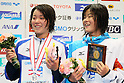 (L to R) Miho Takahashi (JPN), Miyu Otsuka (JPN), APRIL 2, 2012 - Swimming : JAPAN SWIM 2012 Women's 400m Individual Medley Victory Ceremony at Tatsumi International Swimming Pool, Tokyo, Japan. (Photo by Yusuke Nakanishi/AFLO SPORT) [1090]
