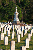 Confederate section of City Cemetery in Vicksburg Mississippi.