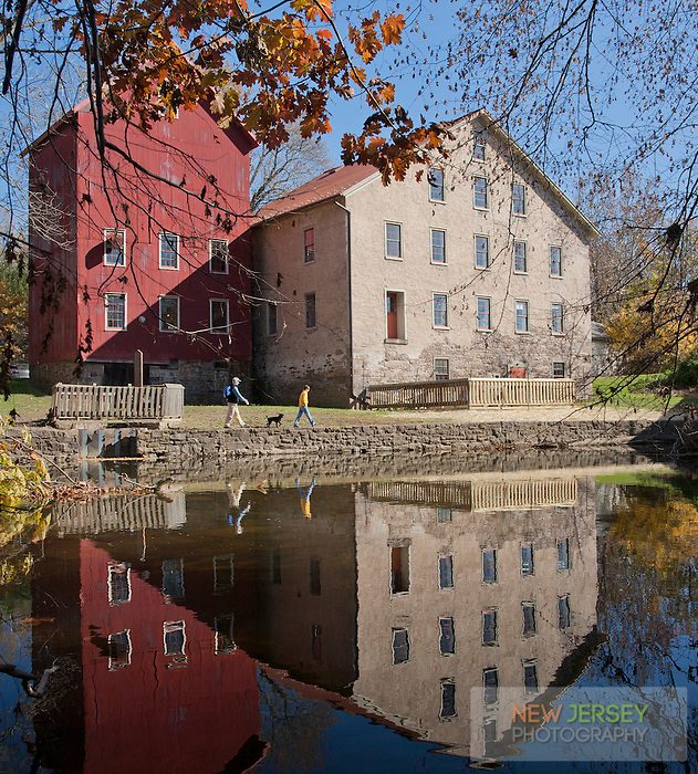 Gristmill and Grain Silo, Prallsville Mills, Stockton, New Jersey