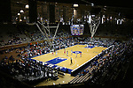 21 December 2007: A wide shot of action late in the game. The Duke University Blue Devils defeated the Bucknell University Bisons 92-49 at Cameron Indoor Stadium in Durham, North Carolina in an NCAA Division I Women's College Basketball game.