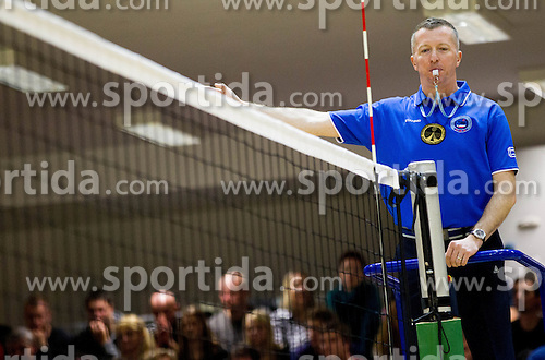 Referee Boris Skudnik at volleyball match between ACH Volley and OK Salonit Anhovo in finals of Slovenian Cup, on December 29, 2012 in Sports Arena OS Mozirje, Slovenia. ACH Volley defeated Salonit Anhovo 3-0 and became Slovenian Cup Champion 2012/2013. (Photo By Vid Ponikvar / Sportida.com)