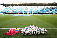San Jose, CA - Friday April 14, 2017: Balls  prior to a Major League Soccer (MLS) match between the San Jose Earthquakes and FC Dallas at Avaya Stadium.