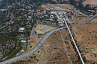 aerial photograph Standford Linear Accelerator, Sand Hill Road, Menlo Park, San Mateo county, California