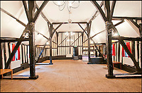 BNPS.co.uk (01202 558833)<br /> Pic: CarterJonas/BNPS<br /> <br /> ***Please Use Full Byline***<br /> <br /> Inside the theatre at Little Easton manor. <br /> <br /> <br /> One of Britain's most historic country houses which boasts a theatre that has played host to Charlie Chaplin and H.G. Wells has gone on the market with a &pound;5 million price tag.<br /> <br /> In the early 1900s the sprawling estate's tithe barn was transformed into a theatre in which the great and the good of the acting world flocked to perform.<br /> <br /> Edwardian actress Ellen Terry gave poetry readings there while War of the Worlds author H.G. Wells, who lived with his family in a house on the estate, also frequented the theatre.<br /> <br /> Other regular performers included Charlie Chaplin, Gracie Fields and George Formby.<br /> <br /> In more recent years it has welcomed famous faces such as Rowan Atkinson, Bill Cotton, Tim Rice, Esther Rantzen and even the cast of Eastenders.<br /> <br /> The 17th century Grade II listed manor is on the market with Carter Jonas estate agents for &pound;5 million.