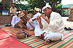 Musicians play traditional Cham songs at the Po Nagar Cham Towers in Nha Trang, Vietnam. July 14, 2011.