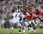 Ole Miss defensive end Channing Ward (11) at Vaught-Hemingway Stadium in Oxford, Miss. on Saturday, September 1, 2012. (AP Photo/Oxford Eagle, Bruce Newman)..
