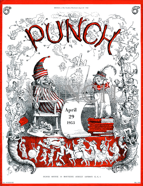 Punch cover, 29 April 1953