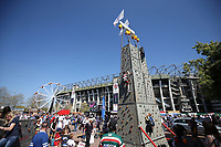 A general view of the Rock Climbing set-up. The Clash, Aviva Premiership match, between Bath Rugby and Leicester Tigers on April 8, 2017 at Twickenham Stadium in London, England. Photo by: Rogan Thomson / JMP for Onside Images