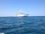 RV Cape Hatteras on the ocean
