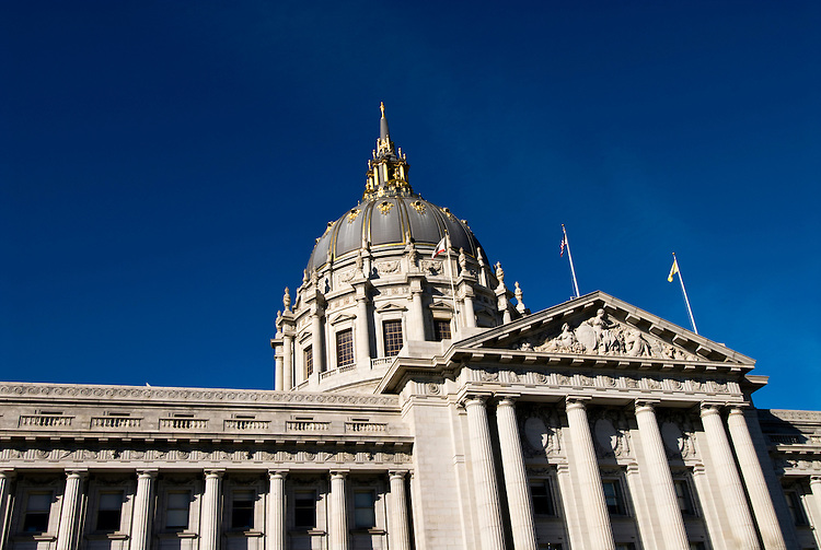 San Francisco: City Hall in Civic Center Plaza. Photo 7-casanf77521. Photo copyright Lee Foster.
