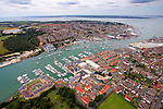 Aerial East Cowes River Medina UKSA Photographs of the Isle of Wight by photographer Patrick Eden