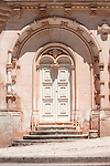 A door of the Bussaco Palace Hotel in Portugal.