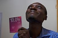 Tech lead, Tutamee team, with Ubuntu install CD
