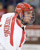 Adam Clendening (BU - 4) - The visiting Boston College Eagles defeated the Boston University Terriers 3-2 to sweep their Hockey East series on Friday, January 21, 2011, at Agganis Arena in Boston, Massachusetts.