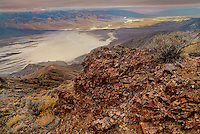 739650001 early morning view over death valley and the panamint mountains from dante's view in death valley national park californai