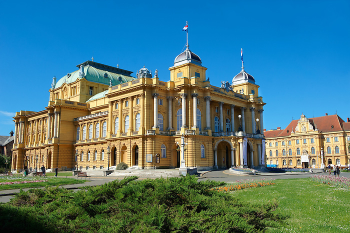 The Neo Baroque Croatian National Theatre,  Marshal Tito Square , Zagreb, Croatia