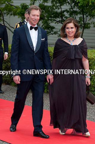 "THE GRAND DUKE and GRAND DUCHESS OF LUXEMBOURG.Pre-Wedding Dinner hosted by the Government of Sweden in honour of H.R.H Crown Princess Victoria and Mr Daniel Westling at Eric Ericsonhallen was attended by Royalty from all over the world. Stockholm_18/06/2010..Mandatory Photo Credit: ©Dias/Newspix International..**ALL FEES PAYABLE TO: ""NEWSPIX INTERNATIONAL""**..PHOTO CREDIT MANDATORY!!: NEWSPIX INTERNATIONAL(Failure to credit will incur a surcharge of 100% of reproduction fees)..IMMEDIATE CONFIRMATION OF USAGE REQUIRED:.Newspix International, 31 Chinnery Hill, Bishop's Stortford, ENGLAND CM23 3PS.Tel:+441279 324672  ; Fax: +441279656877.Mobile:  0777568 1153.e-mail: info@newspixinternational.co.uk"