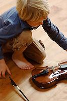 Eno Little picks up his violin
