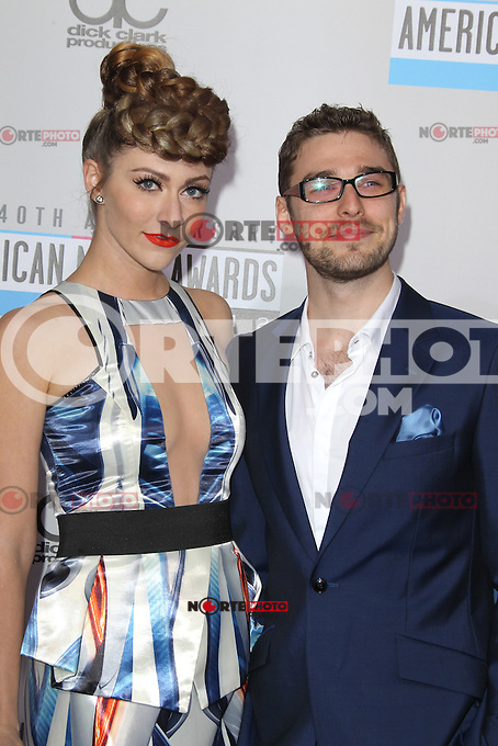 LOS ANGELES, CA - NOVEMBER 18: Amy Heidemann and Nick Noonan at the 40th American Music Awards held at Nokia Theatre L.A. Live on November 18, 2012 in Los Angeles, California. Credit: mpi20/MediaPunch Inc. NortePhoto