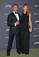 LOS ANGELES, CA. October 29, 2016: Actor Sylvester Stallone &amp; wife Jennifer Flavin at the 2016 LACMA Art+Film Gala at the Los Angeles County Museum of Art.<br /> Picture: Paul Smith/Featureflash/SilverHub 0208 004 5359/ 07711 972644 Editors@silverhubmedia.com