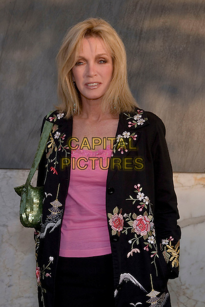 DONNA MILLS.CBS Summer 2005 Press Tour Party Arrivals held at the Hammer Museum, Westwood, California.  .July 19th, 2005.Photo Credit: Zach Lipp/AdMedia.half length black floral print embroidered jacket green purse bag.www.capitalpictures.com.sales@capitalpictures.com.© Capital Pictures.