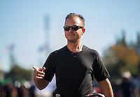 Nov 13, 2016; Pomona, CA, USA; NHRA top fuel driver Steve Torrence during the Auto Club Finals at Auto Club Raceway at Pomona. Mandatory Credit: Mark J. Rebilas-USA TODAY Sports