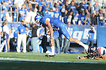Kentucky's Matt Roark (3) is chased by Ole Miss' Cody Prewitt (25)  at Commonwealth Stadium in Lexington, Ky. on Saturday, November 5, 2011. ..